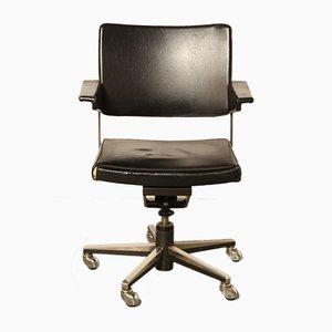 Chaise de Bureau en Skaï Noir par A. R. Cordemeyer pour Gispen, 1970s