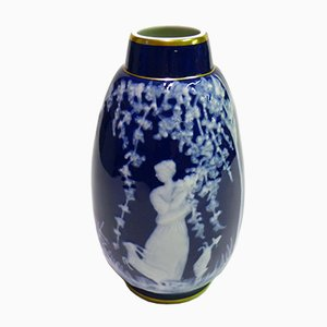 Large Limoges Porcelain Ovoid Vase by Marcel Chaufriasse, 1910s