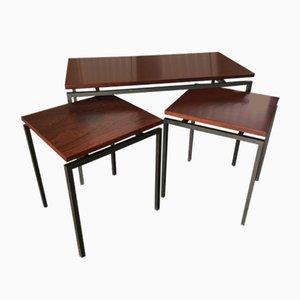 Tavolini ad incastro vintage modernisti in palissandro