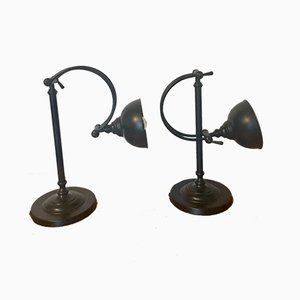 Industrial Table Lamps, Set of 2