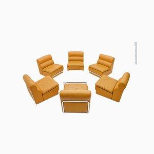 Modular Living Room Set & Coffee Table by Horst Brüning for Kill International, 1970s