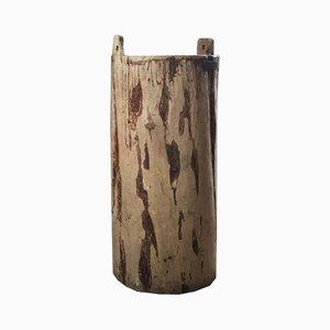 Cesto antico in legno di noce