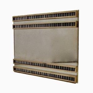 Espejo de pared Mid-Century de cristal de Murano y latón