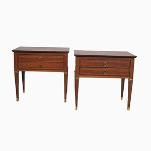 Rosewood Bedside Tables, 1950s, Set of 2