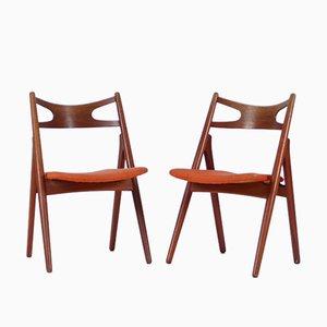 Sedie modello CH29 di Hans J. Wegner per Carl Hansen & Søn, anni '50, set di 2