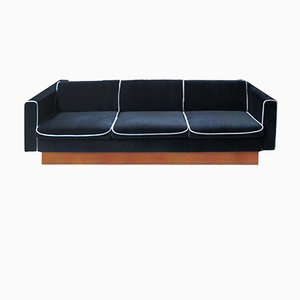 Czech Sofa Bed in Velvet, 1970s