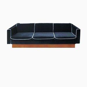 Sofá cama checo de terciopelo, años 70