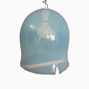 Italienische Vintage Hängelampe aus Glas von Noti Massari für Leucos