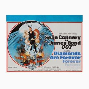 Poster del film Una cascata di diamanti di Robert McGinnis, 1971