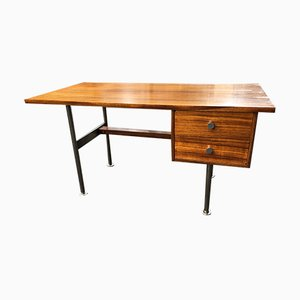 Modernist Zebrano Rosewood & Steel Desk by Rudolf Glatzel for Fristho, 1960s