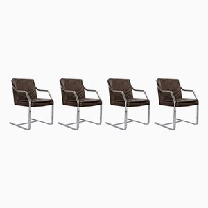 Vintage Art Collection Alpha Freischwinger von Walter Knoll, 4er Set