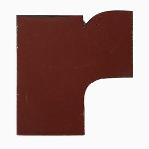 Letra R industrial vintage de metal