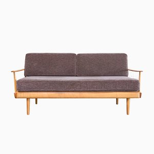 Vintage Antimott Daybed Sofa in Violett from Wilhelm Knoll