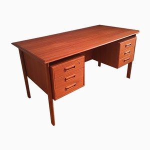 Large Mid-Century Teak Desk by Gunnar Nielsen for Tibergaard, 1960s