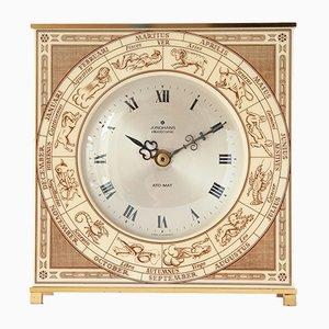 Orologio da tavolo Ato-Mat in ottone con zodiaco di Junghans, anni '60