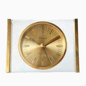 Orologio da tavolo in ottone di Kienzle International, anni '70