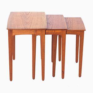 Tavoli ad incastro in teak, anni '60