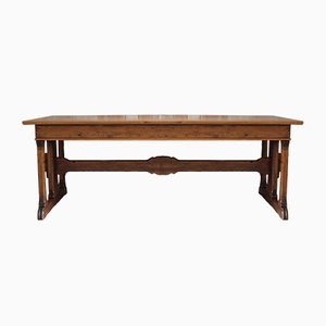 Antique Library Trestle Table