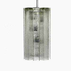 Lámpara colgante XXL de vidrio de Doria Leuchten, años 60