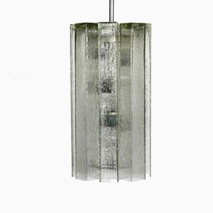 Large Glass Pendant Lamp from Doria Leuchten, 1960s