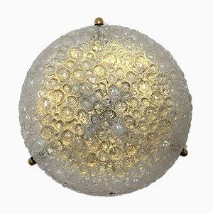 Vintage Deckenlampe aus Messing & Sideglas von Hillebrand Lighting, 1960er