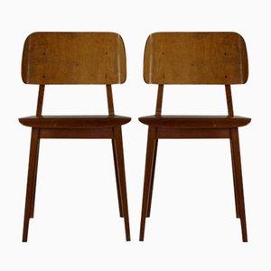 Modell Irene 1948 Esszimmerstühle von Cees Braakman für Pastoe, 1954, 2er Set