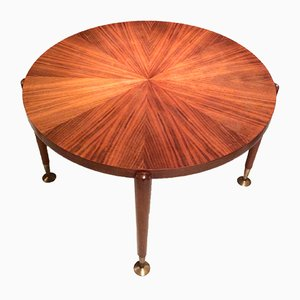 French Rosewood Coffee Table, 1940s