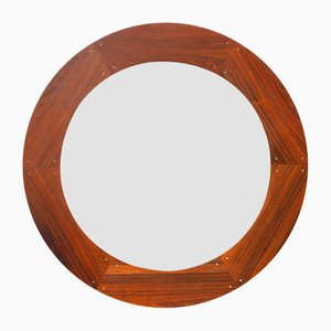 Specchio rotondo di Uno & Östen Kristiansson per Luxus, Svezia, anni '60