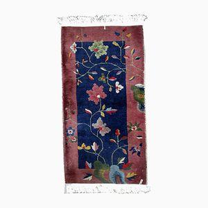 Handgefertigter chinesischer Vintage Teppich, 1920er
