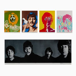 Affiches The Beatles par Richard Avedon pour Waterlow & Sons, 1967, Set de 5