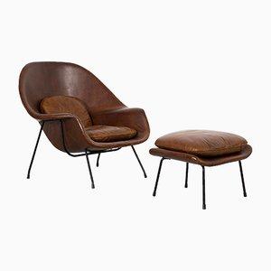 Womb Chair & Ottoman by Eero Saarinen for Knoll Inc, 1960s