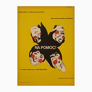 Affiche Help! par Eryk Lipiński, 1967