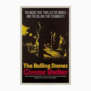 Póster de la película de The Rolling Stones Gimme Shelter, años 70