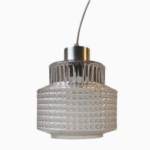 Lampada a sospensione moderna in ottone e vetro, Danimarca, anni '60