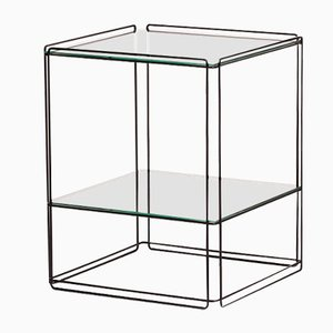 Isocele Side Table with Metal Black Wire Frame by Max Sauze for Atrow, 1970s
