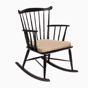 Rocking Chair Vintage par Børge Mogensen pour FDB Mobler, Danemark