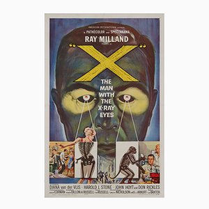 X: The Man with the X-Ray Eyes Film Poster by Reynold Brown, 1963