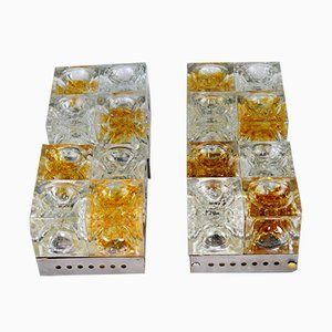 Square Sconces by Albano Poli for Poliarte, 1960s, Set of 4