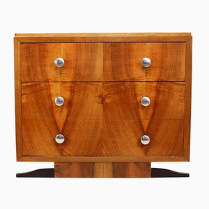 Vintage Walnut Chest of Drawers, 1930s