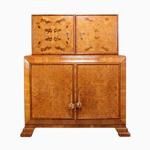 Walnut Cocktail Cabinet, 1930s