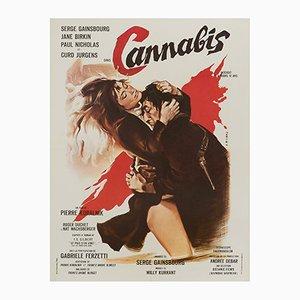 Affiche Cannabis par Georges Allard, 1970