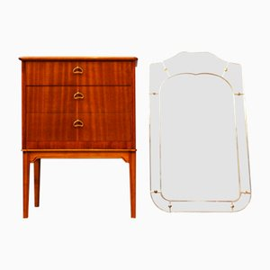 Vintage Danish Chest of Drawers & Mirror