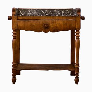 Console Table with Grey Marble Top, 1920s