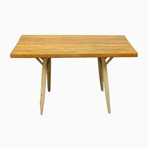 Vintage Dining Table by Ilmari Tapiovaara for Laukkan Puu
