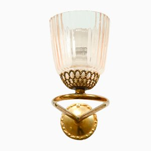 Vintage Italian Murano Glass Wall Sconce