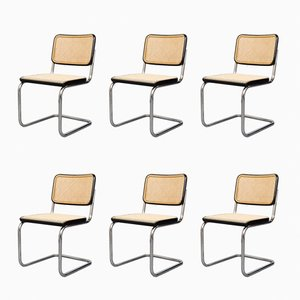 Vintage Bauhaus S32 Cantilever Chairs by Marcel Breuer for Thonet, Set of 6