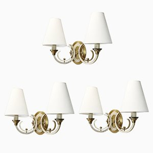 Neoclassical Style Sconces, 1940s, Set of 3