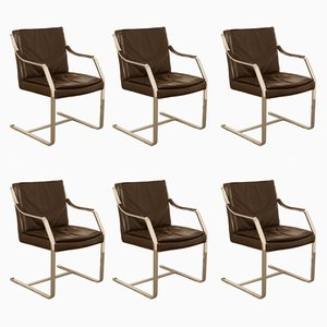 Art Collection Office Chairs by Jørgen Kastholm & Preben Fabricius for Knoll, 1970s, Set of 6