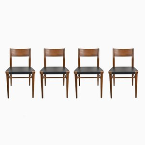 Mid-Century Teak Chairs by Georg Leowald for Wilkhahn, 1960s, Set of 4