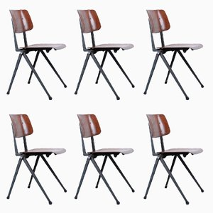 Vintage S 17 Compass Chairs from Galvanitas, Set of 6